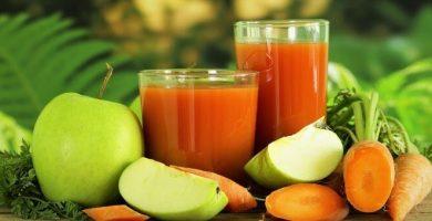 jugo de zanahoria con manzana