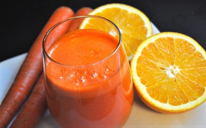 jugo de zanahoria con naranja