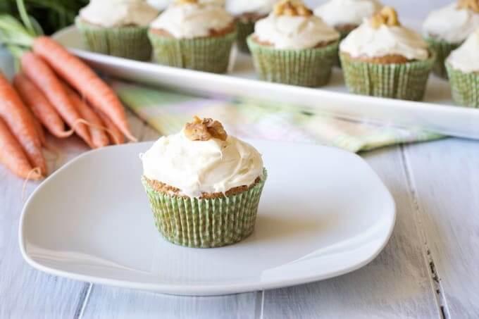 cupcakes de zanahoria integrales