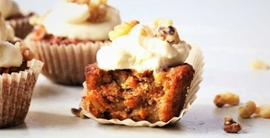 cupcakes de zanahoria y nueces