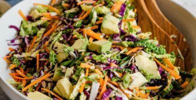 Ensalada de repollo con zanahoria