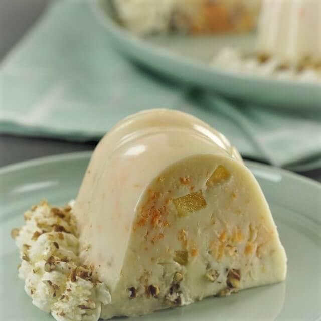 Gelatina de zanahoria con crema