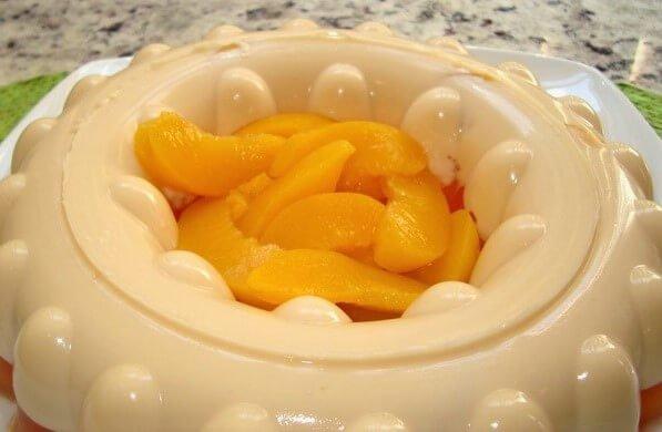 gelatina de zanahoria con durazno