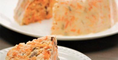 gelatina de zanahoria con piña y queso philadelphia