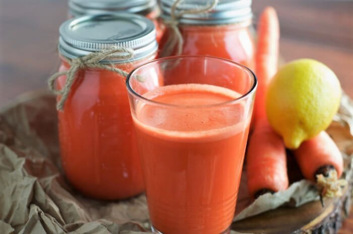 jugo de zanahoria y limon