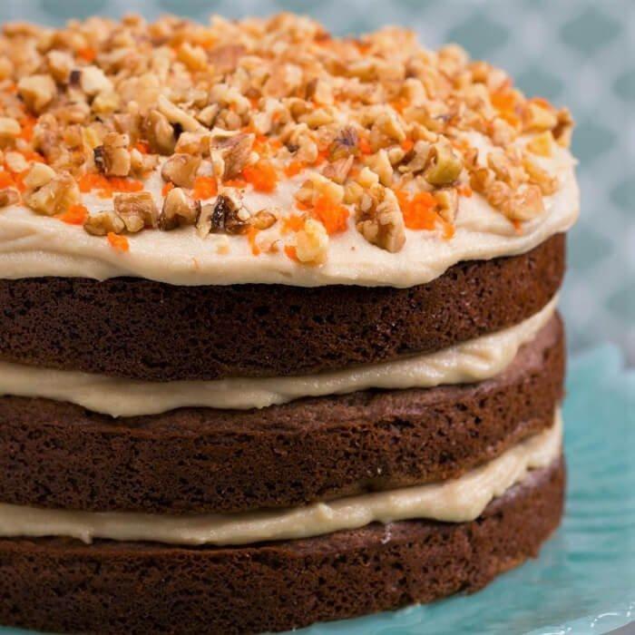 Pastel de zanahoria con harina de hot cakes