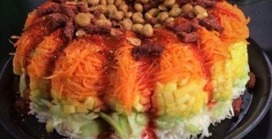 Rosca de jícama, pepino y zanahoria