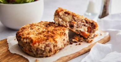 Tortitas de carne molida con zanahoria