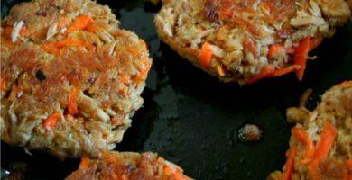 tortitas de zanahoria con atun